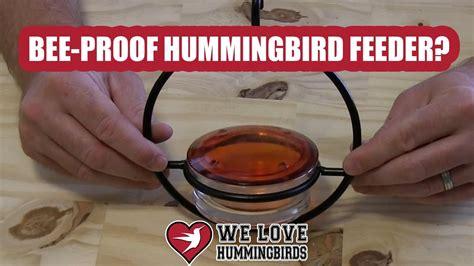 bee proof hummingbird feeder  youtube