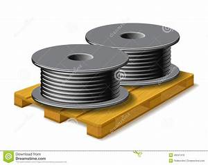 Une Corde De Bois : les bobines avec une corde noire sont sur une palette en ~ Melissatoandfro.com Idées de Décoration
