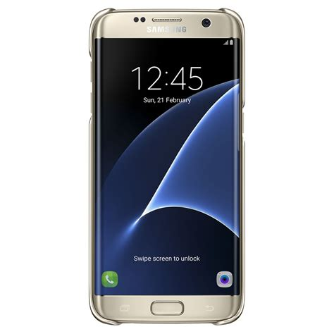 samsung clear view etui pour smartphone galaxy s7 edge or