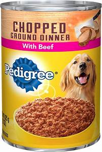 Pedigree Chopped Ground Dinner With Beef Canned Dog Food ...