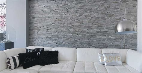 Interior Design Living Room With Natural Stone