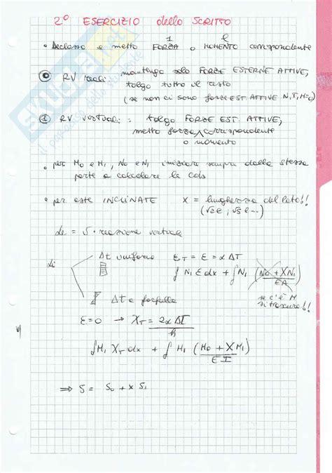 dispense scienza delle costruzioni schemi e formule esercitazione di scienza delle costruzioni