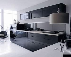 deco cuisine noir et gris With cuisine noire et grise