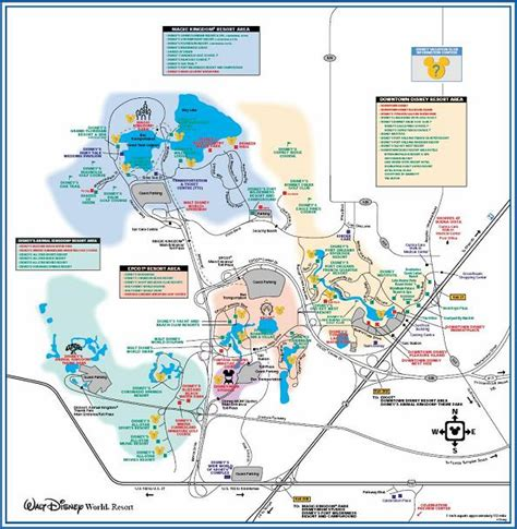 disney world maps