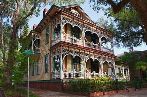 Gingerbread House In Savannah Ga Jigsaw Puzzle In Street