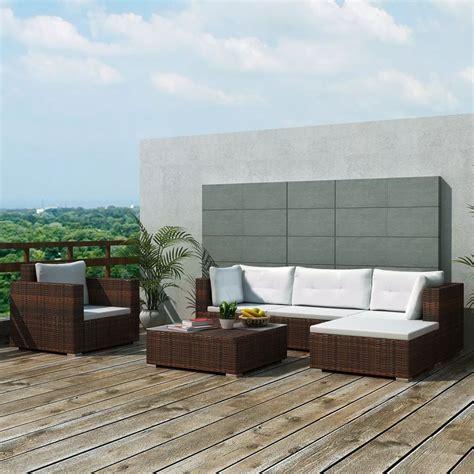 outdoor lounge xl set sofa armchair table rattan patio