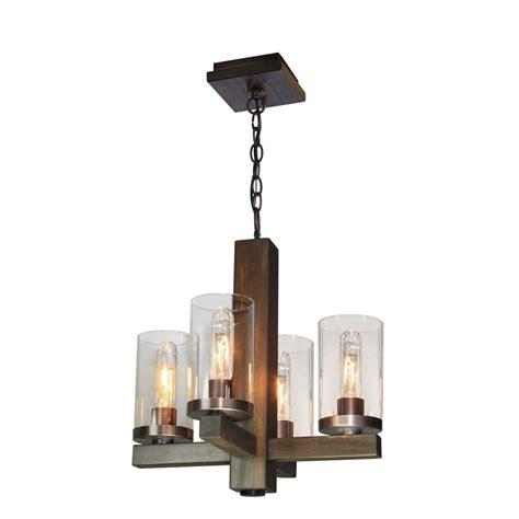jasper park 4 light bronze chandelier artcraft lighting