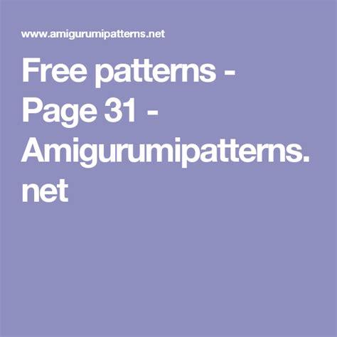 patterns page  amigurumipatternsnet
