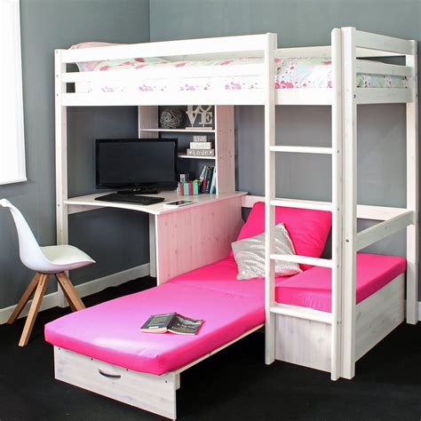 High Sleeper With Sofa And Desk by Thuka Hit 7 High Sleeper Bed With Sofa Bed Desk Family