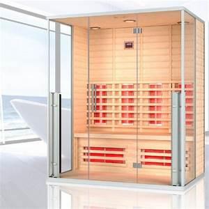 Sauna Kaufen 4 Personen : infrarotkabine monaco infrarot sauna fr bis zu 4 personen ~ Lizthompson.info Haus und Dekorationen