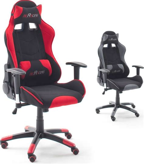 mc racing gaming stuhl mca chefsessel mcracing stoff 1 2 gamer stuhl gaming stuhl racer ebay