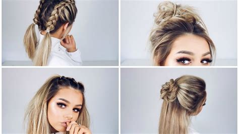 quick  easy hairstyles youtube