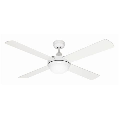 mercator 130cm white 4 blade grange ceiling fan with light