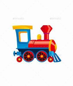 Toy Train Cartoon Kids Illustration by dragon_27 ...
