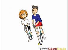 Golf auf Fahrrad Clipart, Bild, Cartoon, Comic, Illustration