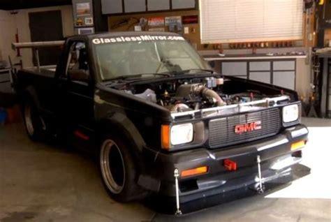 man converted  gmc syclone pickup truck   sneezing
