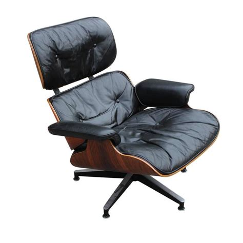 rosewood eames modern lounge chair black leather at 1stdibs