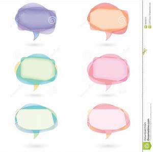 Colored Speech Bubbles Stock Photos - Image: 18045073
