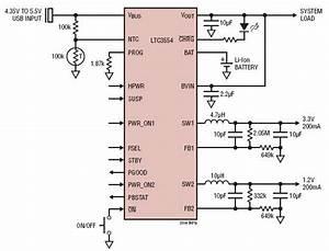 Power Management Integrated Circuit Ltc3554 Circuit