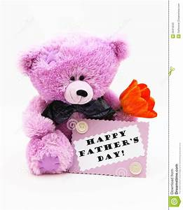 Happy Fathers Day Card - Teddy Bear Stock Photo Stock ...