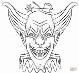 Coloring Clown Scary Print Pdf sketch template