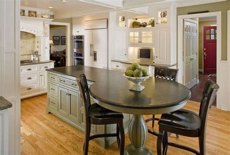The spacious wood surface with a drop leaf is perfect for expanding your work area or as a ready breakfast bar. 40 Multifunctional Kitchen Islands With Seating | Custom kitchen island, Kitchen island with ...