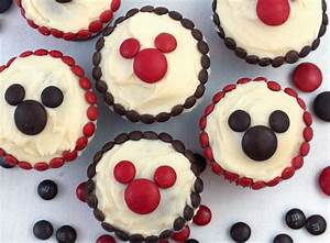 M&M Mickey Cupcakes - Two Sisters