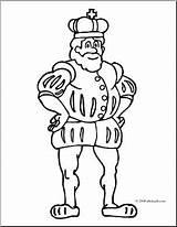 Coloring Clip King Royal Abcteach Clipart Cp sketch template