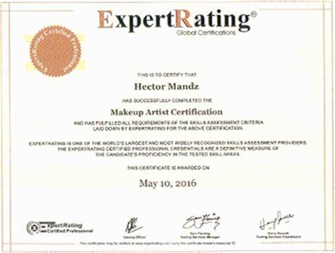 expertrating makeup artist certification  makeup