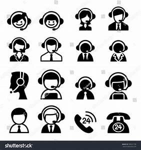 Customer Service Icon Call Center Icon Stock Vector ...