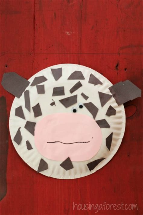 paper plate cow housing a forest 881 | Paper Plate Cow 1