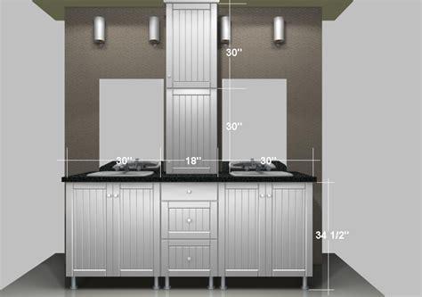 Ikea Bathroom Vanities A Linen Closet On The Countertop