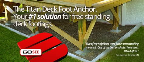 titan deck foot ground anchored deck footings