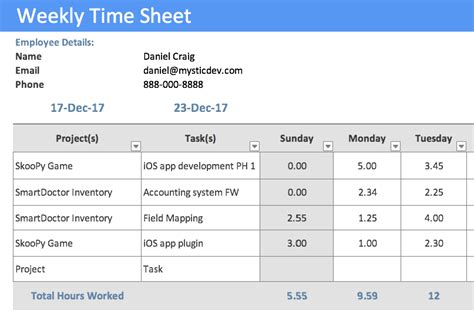 Time In Sheet Template Online Free by Timesheet Template Project Management Timesheet Template