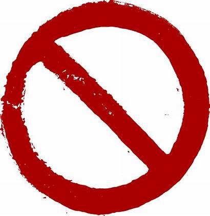 Prohibited Transparent Prohibition Grunge Pngio