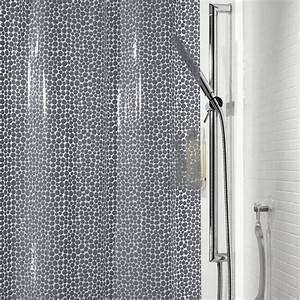 Rideau De Baignoire Leroy Merlin : rideau de douche en plastique x cm gris ~ Dailycaller-alerts.com Idées de Décoration