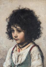 Oil Painting Young Girl
