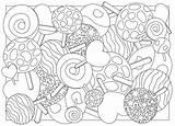 Lecca Caramella Lollipops Adulta Kleurende Coloration Sucrerie Lucette Coloritura Colorare Ilustrace Bonbon Vektorová Barvení Sladkosti Stránka Barevné sketch template
