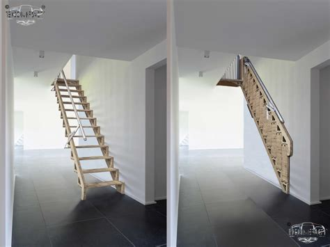 Foldable Stairs Industrial Designer by Bcompact Hybrid Stairs And Ladders