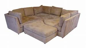 puzzle couch sectional chairish With 4 piece puzzle sectional sofa