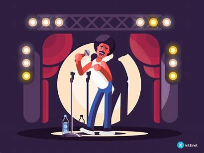 Comedy Standup Dribbble Animation Cartoon Illustration Hi