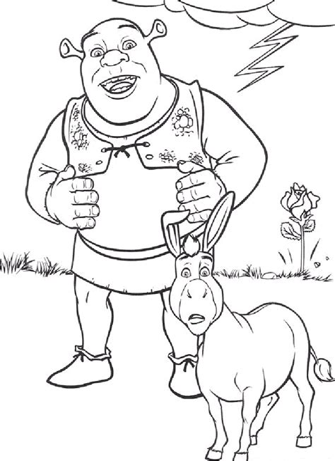 diy shrek costume birthday party ideas  shrek coloring pages page