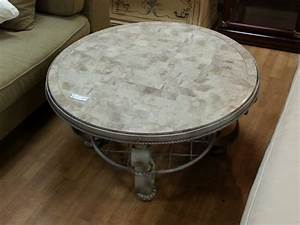 furniture antique french style marble top coffee table With large round marble coffee table
