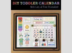 DIY Toddler Calender Magnet Board Lots of free