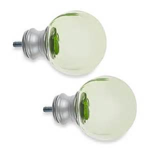 cambria 174 my room ball finial in green glass and brushed