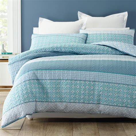 Teal Duvet Cover King by Trebah Teal Blue White Quilted King Quilt Doona