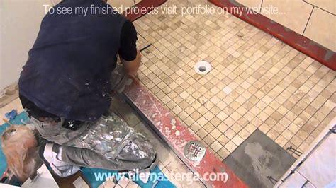 part    tile shower floor shower pan mud bed