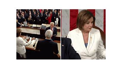 Speech Trump Pelosi Tears Hands Shake Speaker