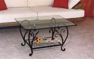 Table Basse En Fer Forgé : table en fer forge ~ Teatrodelosmanantiales.com Idées de Décoration