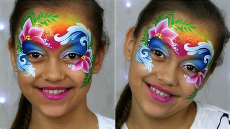 Tropical Princess 🌸 Face Painting & Makeup For Kids